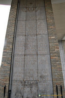The ten panels on the inner wall explain the progression of the battle