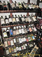 Wine selection at Queen Mary's Palace, Balchik, Bulgaria