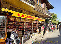 Shop full of Bulgarian souvenirs