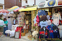 Lace, football t-shirts and other souvenirs in Nessebar