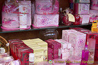 Rosewater products that Bulgaria is noted for