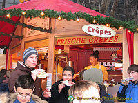 Frische crepes stall at the Cologne Weihnachtsmarkt
