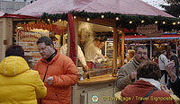 Cologne Christmas Market hot food stand