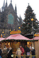 Cologne Christmas Market in front of Cologne Dom