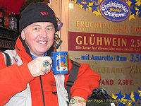 Tony's happy with his gluhwein