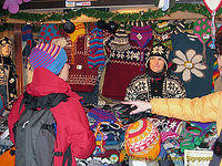 Colourful woollen hats