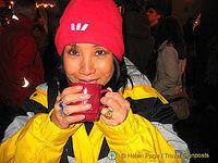 Me, keeping warm with glühwein