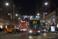 Night lights of Oxford Street