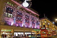 Christmas Lights of Marks & Sparks and Selfridges