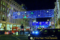 London lights at Christmas