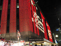 Debenhams lights up for Christmas shoppers