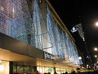 Christmas lights at John Lewis'