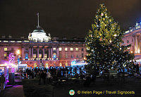 Ice-skating at Somerset House