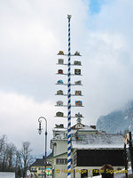 Hohenschwangau's maypole erected in May 2003