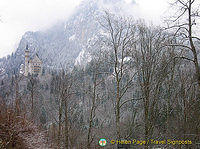 A distant view of Schloss Neuschwanstein
