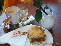 Having a coffee break at the Gradskavana cafe in the Square of the Loggia