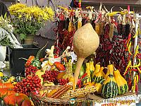 Decorative produce in Dolac market