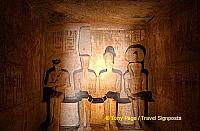Inner Santuary - Ramses II sits with Amun-Ra, Ptah & Ra_Harakhty.