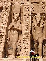 Its Hypostyle hall has Hathor-headed pillars.