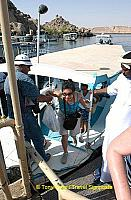 Arriving at Island of Philae.