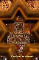 Tomb of Mohammed Ali which can only be viewed through the wooden partition.