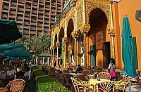 The hotel was fashioned after Spain's Alhambra.[Marriott Hotel - Cairo - Egypt]