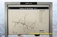 Site map showing location of the various tombs.