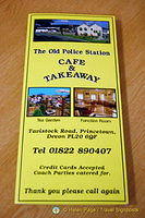 Old Police Station Cafe menu
