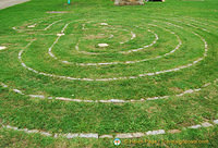 Glastonbury received its town charter from Queen Anne in 1705 and this Labyrinth was built to celebrate the event.