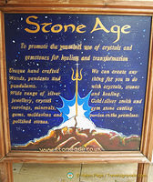 Stone Age in The Courtyard where you can buy your magic wands, healing crystals, etc.