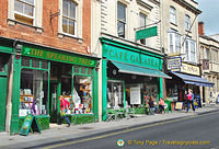 Cafe Galatea is one of the many cafes in Glastonbury