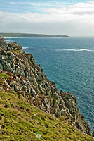 Land's End - its mighty cliffs and sea