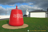 A red beacon of the Lizard Lighthouse Heritage Centre