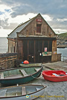 Boat shed at Lizard Point