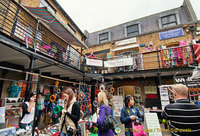 Camden Markets - Me, checking out the stalls