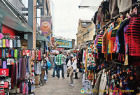 Camden Markets - More clothing stalls