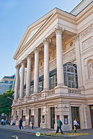 The Bow Street frontage of the Royal Opera House
