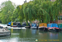 Canal boat mooring