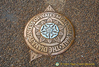 The Diana Princess of Wales Memorial Walk marker
