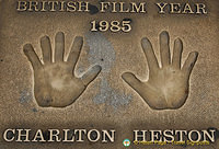Charton Heston handprint