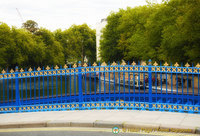 Attractive Blue and gold railings