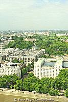 Bird's eye view of Buckingham Palace