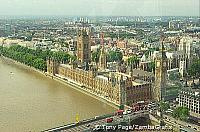 London Eye view of Houses of Parliament