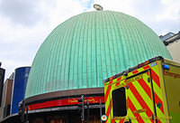Green dome of Madame Tussauds