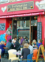 A very popular Portobello juice bar