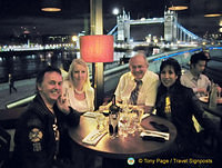 Dinner with view of Tower Bridge