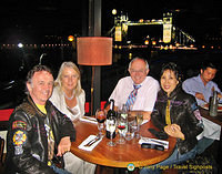 Dinner with Linda and Neil in London