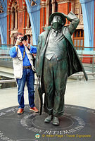 Tony shooting Sir John Betjeman, a poet, writer and broadcaster