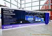 St Pancras welcome board