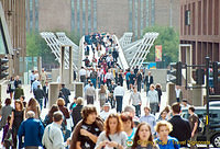 Millenium Bridge and the Tate Modern